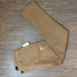 Khaki tan pants slim straight